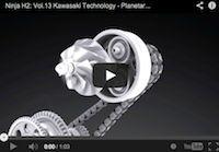 Kawasaki Ninja H2 volume 13: les 130 000 tr/ min en vidéo