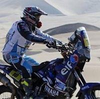 Dakar 2013 : Etape 8, la Yamaha de Casteu remplace celle de Pain