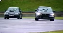 Fifth Gear - Mitsubishi Lancer Evo X FQ300 vs Impreza WRX STI : un essai (un peu trop) bouillant