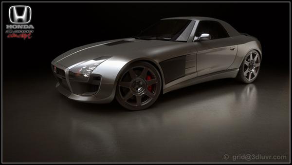 Design : Honda S2000 Coupé Concept par Grid