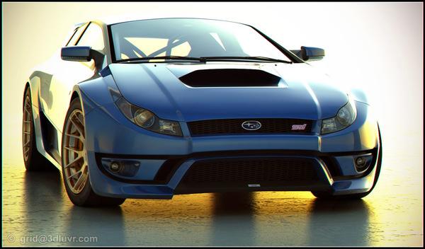 Design : Subaru WRX STi par Grid