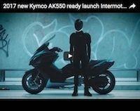 Nouveauté 2017: Kymco AK550 façon teaser