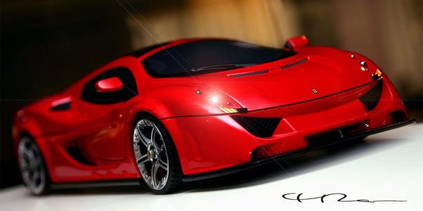 Design : Ferrari Dino Rosa par Paolo Rosa