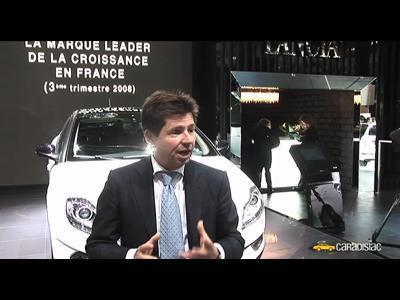 Paris 2008 : Olivier François, PDG Lancia (interview)