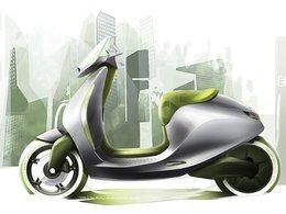 Mondial de Paris - Mini aura aussi son scooter!