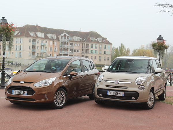 comparatif ford b max vs fiat 500 l le bapt me du feu. Black Bedroom Furniture Sets. Home Design Ideas
