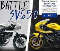 Jeu concours Suzuki « Battle SV650 »: jusqu'à 1000 euros d'accessoires offerts