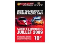 Ferrari Racing Days sur le HTTT Paul Ricard