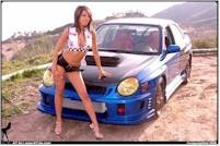 Une Subaru WRX trés bien accompagnée..