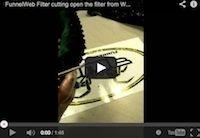 Découpe du filtre à air FunnelWeb Filter de Romain Dumontier (vidéo)