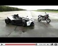 Vidéo Mauto : KTM X-Bow vs KTM 990 Supermoto