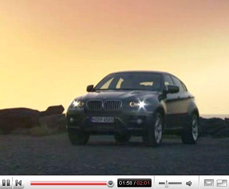 Vidéo : le BMW X6 de série s'échappe