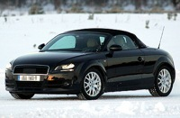 L'Audi TT Roadster aux sports d'hiver
