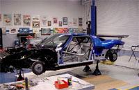 Une Ford GT-R en construction