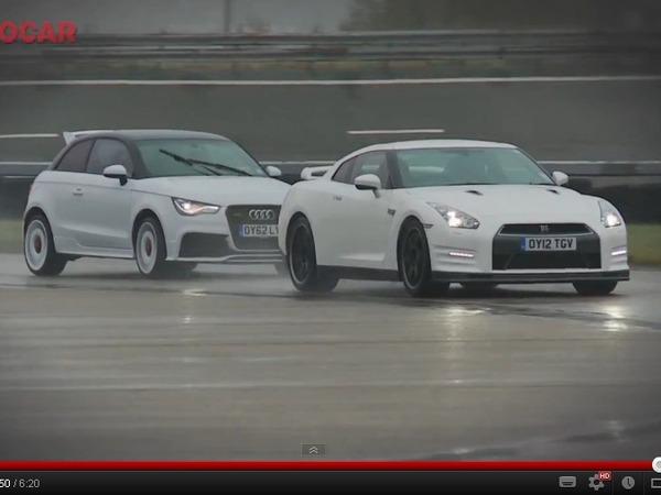 Vidéo - L'Audi A1 Quattro pulvérise la Nissan GT-R 2012