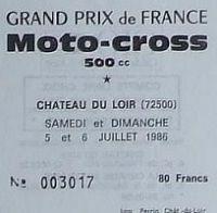 MX GP : Le prix de l'entrée des GP de 1983 à 2000
