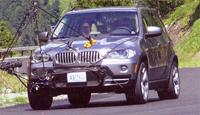 Nouveau BMW X5:  face aux caméras