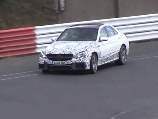 Surprise en vidéo : la future Mercedes C63 AMG à l'assaut du Nürburgring