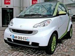 Journées du Vélo et des Mobilités Electriques 2010 à Paris : la smart fortwo électrique exposée