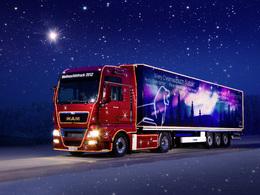 Voici le camion de Noël MAN