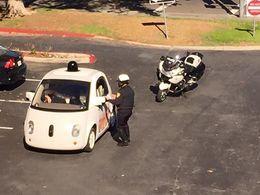 Premier PV pour la Google car pour excès de... lenteur !