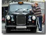 Un taxi anglais à Barcelone