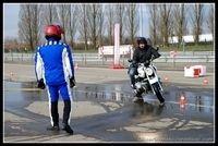 Formation à l'Allemande pour les motocyclistes de la Mairie de Paris