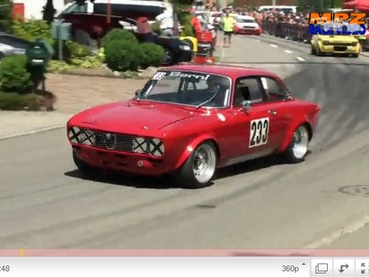 Alfa Romeo Giulia GT à l'attaque en course de côte, quand tout à coup...