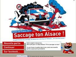 Jouez à «Saccage ton Alsace», le jeu vidéo qui milite contre le Rallye d'Alsace