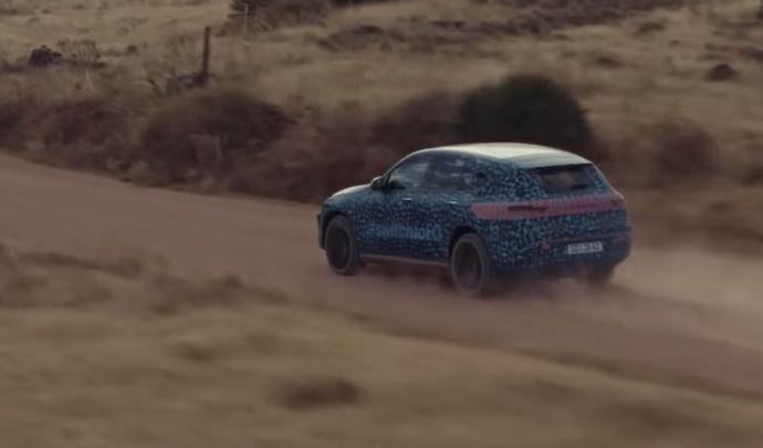 Le futur Mercedes EQC à l'épreuve du désert