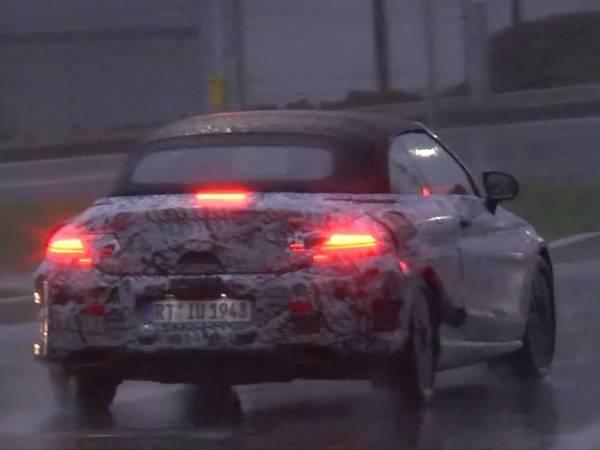 Surprise : la future Mercedes Classe C cabriolet déboule sous la pluie