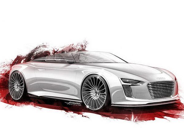 Mondial de Paris 2010 : tous les dessins de l'Audi e-Tron Spyder