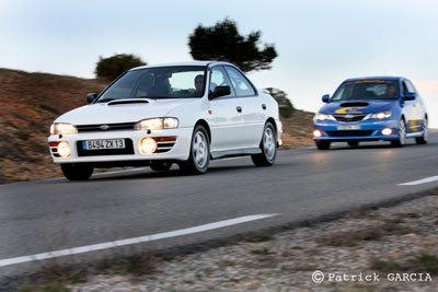 Galerie Photo: Subaru Impreza GT 1995 vs Subaru Impreza WRX 2008. 1/2