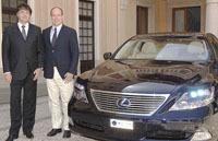Le Prince Albert de Monaco, 1er utilisateur de la Lexus LS 600h