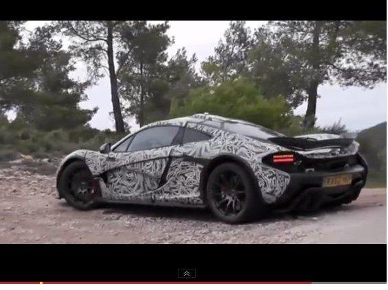 Surprise en vidéo : la McLaren P1 se fait entendre