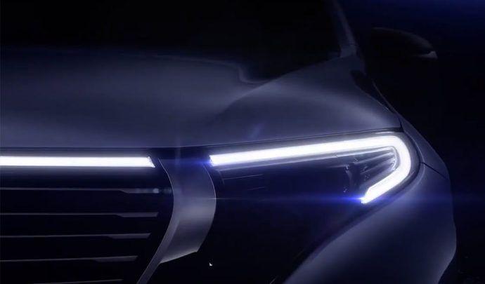 Le Mercedes EQC montre son regard
