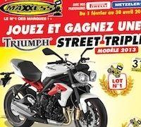 Maxxess vous fait gagner une Triumph Street Triple R