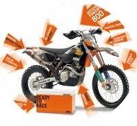 C'est Noël avant l'heure chez KTM: de 500 à 800 € de cadeaux pour l'achat d'une moto 2009...