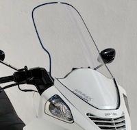 """Ermax: bulle """"sport"""" ou """"touring"""" pour le Daelim 125 S2."""