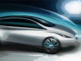Un sketch de l'Infiniti électrique de 2013