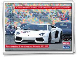 Rallye de Paris 2013: demandez le programme de l'année du 20è anniversaire