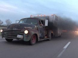 Insolite : les rods américains aussi en diesel, et ça fume
