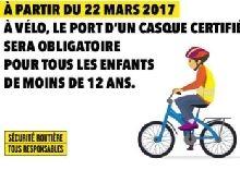 Sécurité routière : un casque à vélo pour les moins de 12 ans c'est maintenant