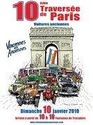 Traversée de Paris en Ancienne : la 10ème le 10 / 01 / 2010…