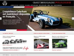 Un site internet pour Caterham France