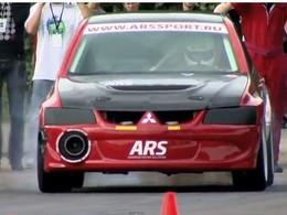 Mitsubishi Lancer Evolution ARS : 1/4 mile en 9.734 sec (1100 chevaux pour 1100 kilos)