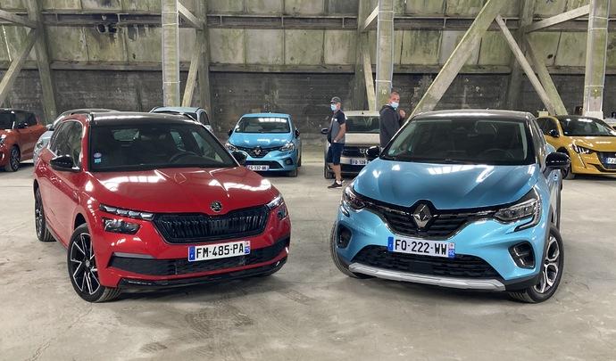 Comparatif - Renault Captur VS Skoda Kamiq: dans un mouchoir de poche - Salon de l'auto Caradisiac 2020