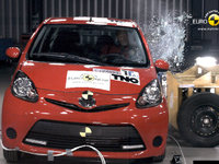 La triplette Toyota Aygo, Citroën C1 et Peugeot 107 restylées passe chez Euro-NCAP : ouille...