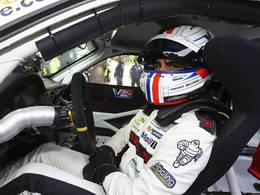 Vincent Beltoise à Pikes Peak sur une Porsche 911 GT3 RS de Romain Dumas