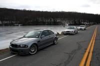 3 BMW M3 E46 dans le New Jersey : Magnifique